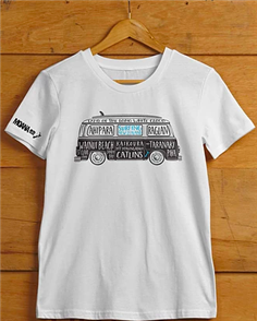 Moana Rd NZ Surfing T-Shirt, White