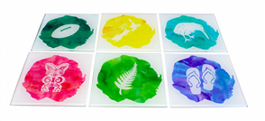 Moana Rd Kiwiana Watercolours Coasters