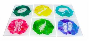 Moana Rd Kiwiana Watercolours Coasters