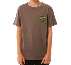 Santa Cruz Bug Dot Youth Short Sleeve Tee, Ovcercast