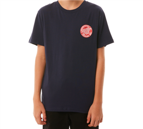 Santa Cruz Original Dot Fill Short Sleeve Youth Tee, Navy