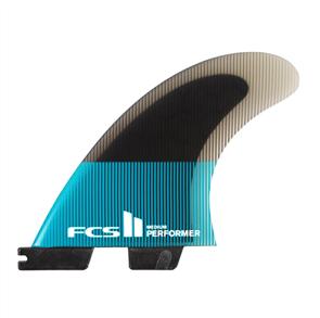 FCS II Performer PC Medium Teal/Black Tri  Fins