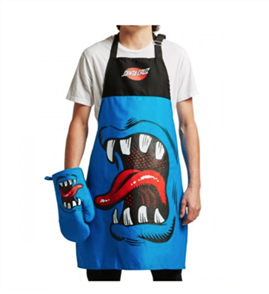 Santa Cruz Phillips Hand BBQ Apron, Blue