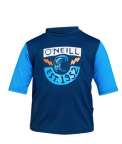 O'Neill BOYS TODDLER SPF SS RASH TEE , MARINE/BRITEBLU