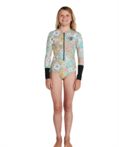 O'Neill GIRLS BAHIA FZ LS SURFSUIT , WILDFLO