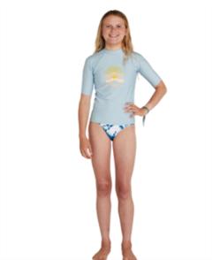 O'Neill GIRLS BASIC UV SKINS SS CREW , KENTUCKY BLUE