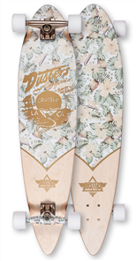 "Dusters Cruisin Kalea Longboard 37"", White Gold"