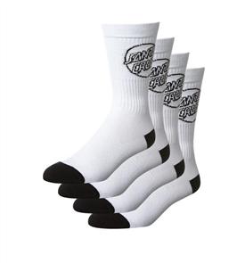 Santa Cruz Mono Cruz Sock 4Pair, White