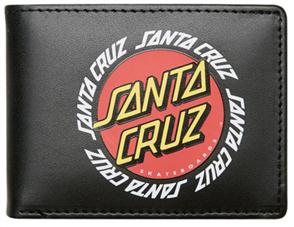 Santa Cruz Ringed Dot Wallet, Black