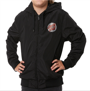 Santa Cruz Check Waste Dot Windbreaker Youth Jacket