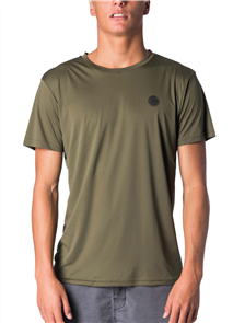 Rip Curl Search Surflite Short Sleeve Uv Tee, 0854 Military Green