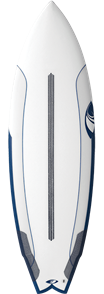 Sharpeye Modern2 Tri-Fin Dual Core Surfboard, Blue