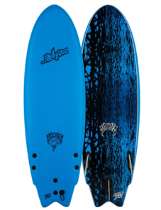 Odysea X Lost RNF 5'5 Round Nose Fish Surfboard, Azure Blue