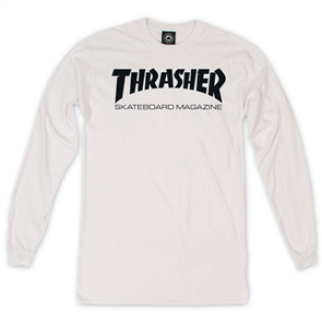 Thrasher Skate Mag L/S Tee White