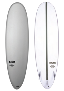 Softech Surfboards The Middie soft top with EPS Base surfboard, Grey