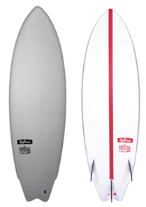 Softech Surfboards The Triplet soft top with EPS Base surfboard, Grey