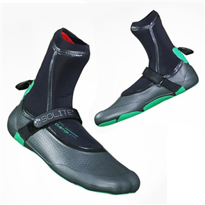 Solite Boots 3mm Custom Pro Booties, Black/Green
