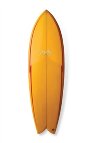 Gerry Lopez SOMETHING FISHY Quad-fin Surfboard, Orange