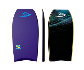 Manta Sonic Bodyboard, 2017-18, Purple/Blue, Size 42""