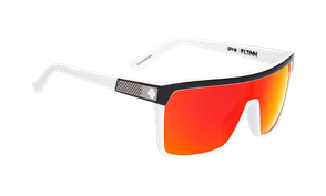 SPY SPY Flynn Sunglass, Black White - Happy Grey with Red Spectra