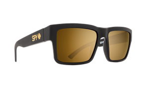 SPY Sunglass Montana Soft Matte Black - Happy Bronze w/Gold Mirror