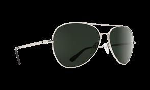 SPY Whistler Sunglass, Frame: Silver, Lens: Happy Grey Green