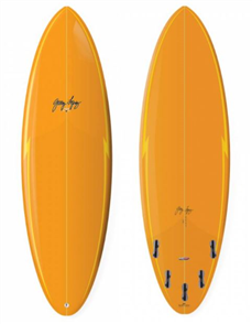 Gerry Lopez Squirty Five-fin Surfboard, Orange