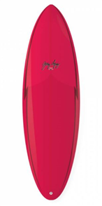 Gerry Lopez Squirty Five-fin Surfboard, Red