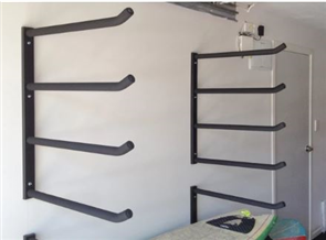 Curve Surfboard Wall Rack - Quad Steel