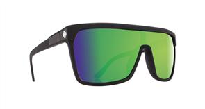 SPY Sunglasses Flynn  Matte Black - Happy Bronze w/Green Spectra