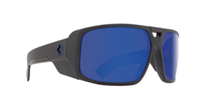 SPY Sunglasses Touring  Matte Black - Happy Bronze w/Blue Spectra