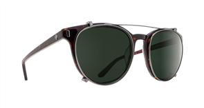 SPY Sunglasses Alcatraz  Dark Tort - Happy Grey Green Polarized (Clip On)