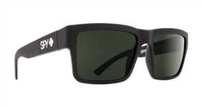 SPY Sunglass Montana Soft Matte Black Happy Grey Green Polar