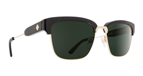 SPY Sunglasses Bellows  Black Gold - Happy Grey Green