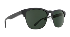 SPY Sunglasses Loma  Matte Black/Black - Happy Grey Green