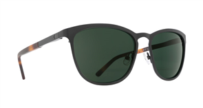 SPY Sunglass Cliffside Matte Black/Matte Honey Tort - Happy Grey Green