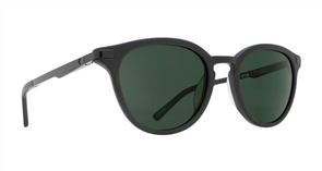 SPY Sunglasses Pismo  Matte Black - Happy Grey Green