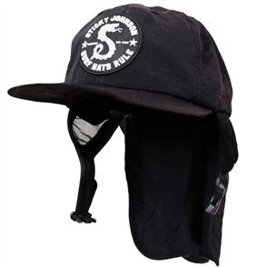 Sticky Johnson SURF HAT WITH LEGIONNAIRE FLAP, BLACK