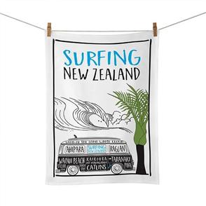 Moana Rd Tea Towel, Surfing
