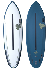 Channel Islands Mini Dual Core Surfboard, Blue Green