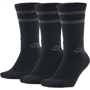 Nike SB Crew Skateboarding Socks(3PK) Black Anthracite