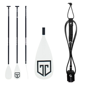 US Trident T6 3-piece Paddle Combo, Paddle, 9ft Icon Leash, TM Combo