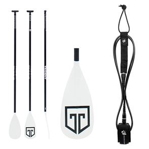 US Trident T6 3-piece Paddle Combo, Paddle, 9ft Icon Leash, TM Combo