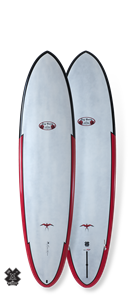 Takayama Egg Tuflite Pro Carbon Surfboard, Red