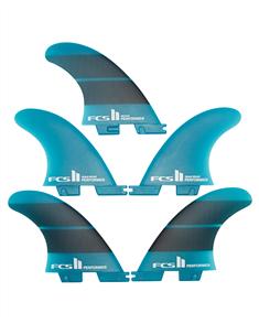 FCS II Performer Neo Glass Medium Teal Gradient Tri-Quad Fin