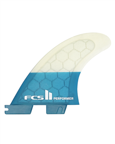 FCS II Performer PC Teal Medium Quad Rear Fins