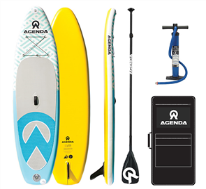 Agenda Tender iSUP 10'6 Combo with Alloy Paddle and 10ft Leash