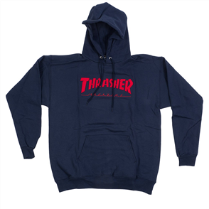 Thrasher Mag Logo Felt Stitchedhood Navy