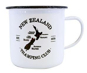 Moana Rd Nz Tramping Enamel Small Mug, White