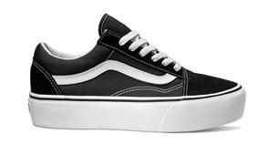Vans Old Skool Platform Shoes, Black White